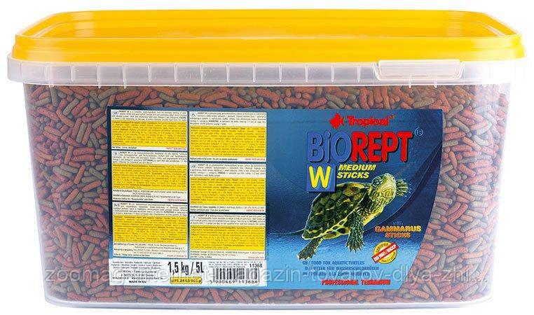 """Корм в виде палочек для рептилий """"Biorept W"""" (5L /1,5kg) Tropical™"""