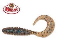 Силиконовая приманка Manns Twister 035 M-035 BFCL прозрачный с синей блесткой