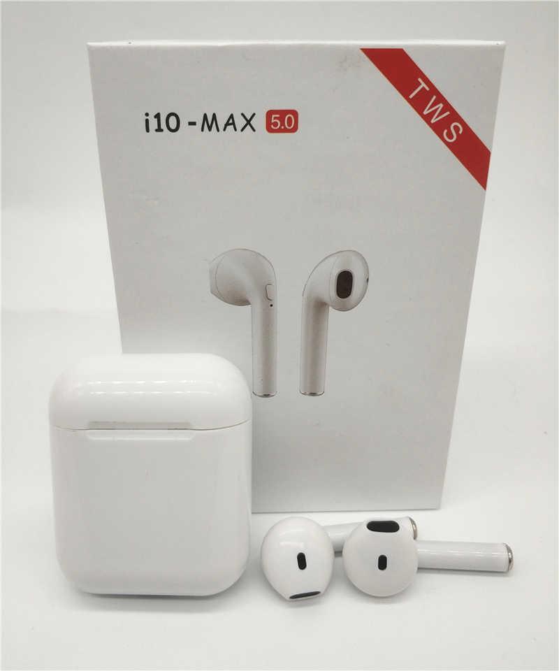 Беспроводные наушники i10-MAX TWS Bluetooth с кейсом Белые
