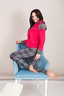 Домашний женский костюм клетка Турция, фото 4