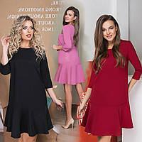 Женское платье свободного кроя /разные цвета, 42-52, LL-034/