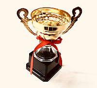 Кубок 17 см. из металлизированного пластика, фото 1