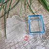 Штамп силиконовый прозрачный с трафаретом, квадрат