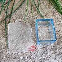 Штамп силиконовый прозрачный с трафаретом, квадрат, фото 1