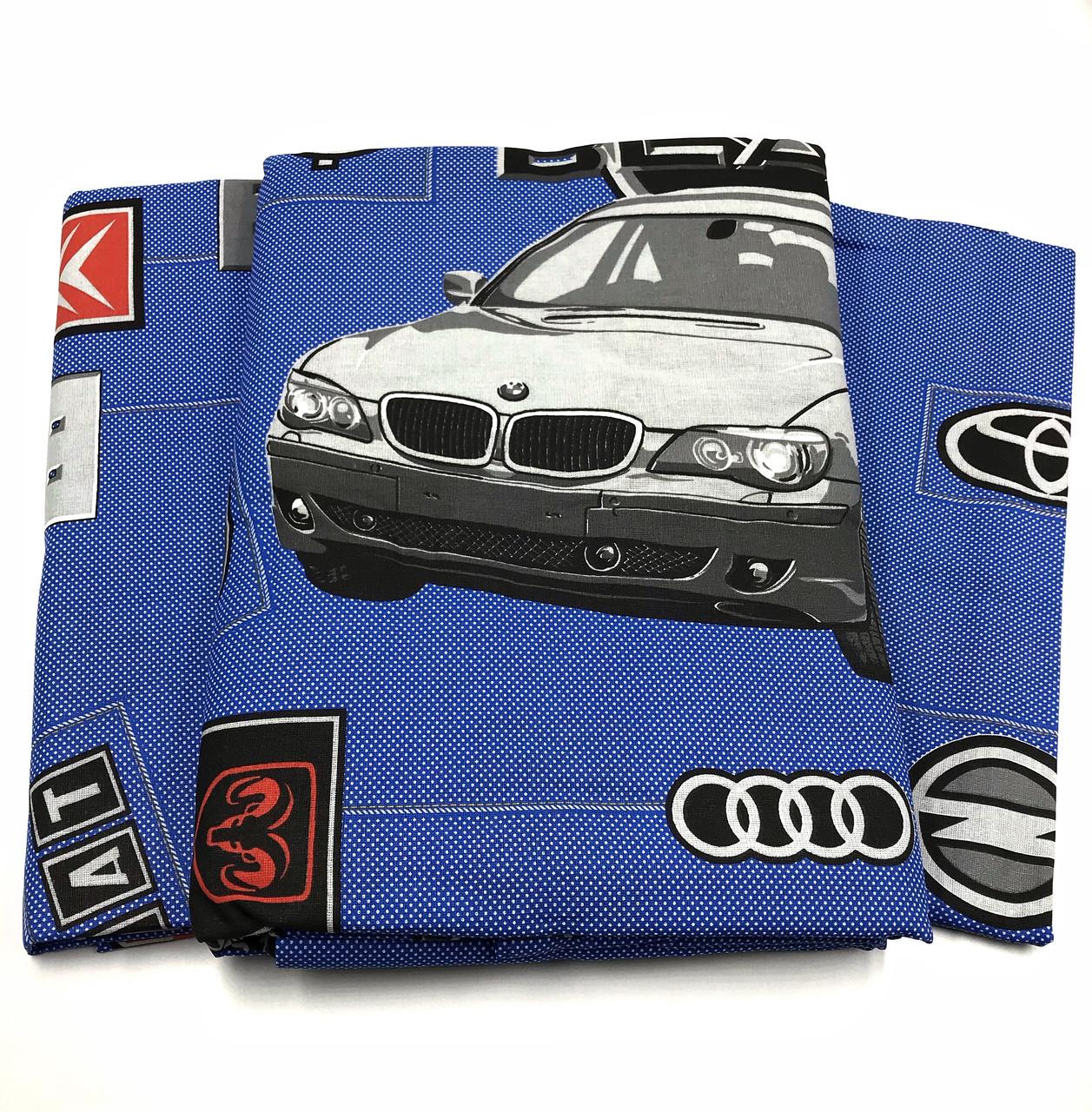 """Полуторний комплект постільної білизни з бязі Тиротекс """"BMW"""" ( 2 наволочки 70х70)"""
