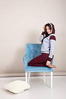 Домашний женский костюм клетка Турция, фото 3