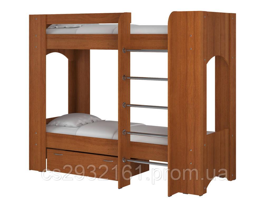 Кровать Дуэт 2. Кровать для двоих детей. Кровать двухъярусная. Кровать с двумя спальными местами. лесной орех