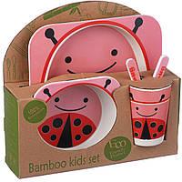 Набор детской посуды A-PLUS ECCO 5 предметов (BF-05) Бамбук