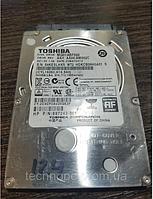 Жесткий диск 500GB HDD для ноутбука 2.5 Toshiba SATA II (MQ01ABF050) + Тонкий 7 мм + Наработка 27 дней   №124