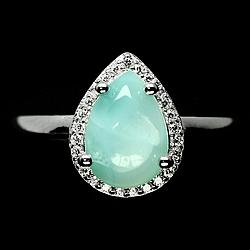 Серебряное кольцо с ларимаром, 2124КЦЛ