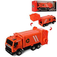 Мусоровоз AS-2282(Orange) Оранжевый АвтоСвіт, металл