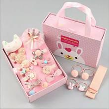 Набор украшений 18 заколок для Принцессы для девочки Нежно розовый