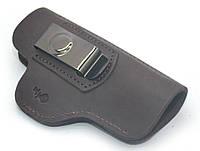 Кобура поясная скрытого ношения Форт 19, Glock 17 кожа коричневая 5512, фото 1