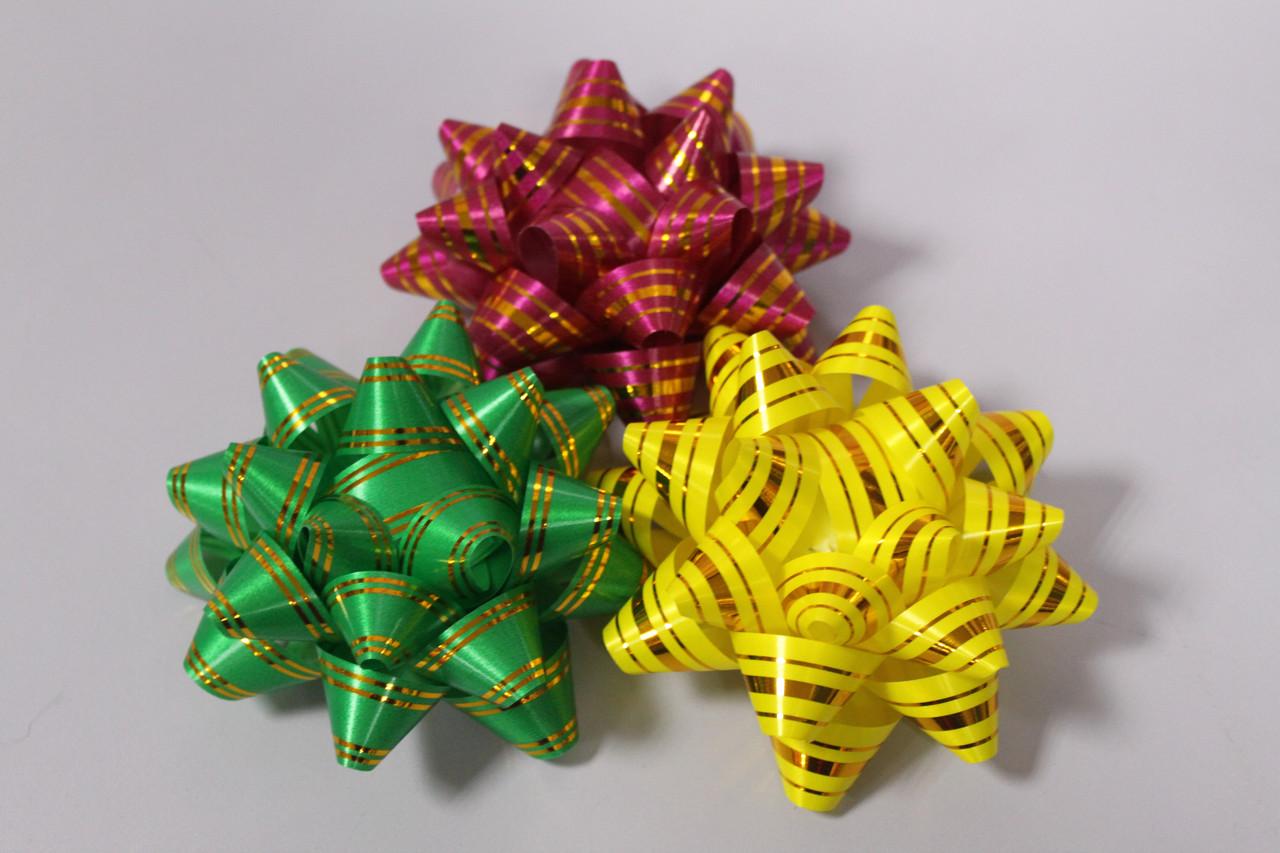 Бантик 1 шт. для украшения подарочной упаковки 11см