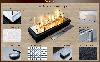Топливный блок для биокамина Алаид Style 700 K C2 Gold Fire (AS700-k-c2), фото 7