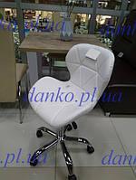 Кресло на колесах Стар нью белое для мастера маникюра от SDM Group, экокожа