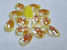 Стразы пришивные SWARO Капля 17*28мм. Crystal Electric Yellow DeLite
