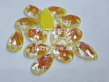 Стразы пришивные SWARO Капля 10*18мм. Crystal Electric Yellow DeLite