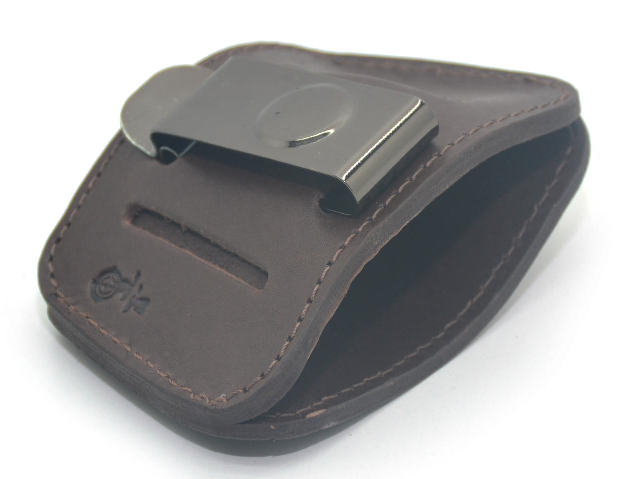 Кобура поясная скрытого ношения Glock 17, Glock 19 кожа коричневая 5514