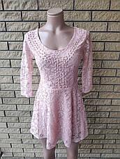 Платье женское кружевное с жемчужинами высокого качества TAHA , Турция, фото 2