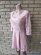Платье женское кружевное с жемчужинами высокого качества TAHA , Турция, фото 3