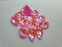 Стразы пришивные SWARO Капля 10*18мм. Crystal Electric Pink DeLite