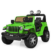 Детская машина M 4176EBLR-5, р/у 2,4G, 4 мотора, 1 батарея, колеса EVA, эко-кожа, зеленая