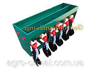 Сеялка зерновая дисковая на 6 рядов с бункером для удобрений для мотоблока и мототрактора, фото 2