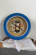 Часы идут в обратную сторону Время-деньги Синий