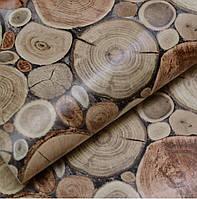 Обои для стен шпалери  под дерево влагостойкие бумажные 0,53*10м