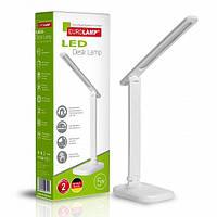 Светодиодный настольный светильник EUROLAMP LED в стиле хайтек 5W 3000-5000K белый (LED-TLG-1(white))