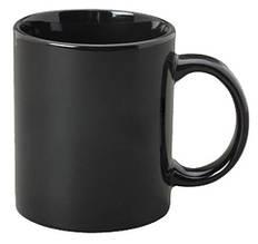 Кружка «Хамелеон» черная глянцевая, внутри черная