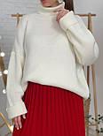 Женский свитер объемной вязки под горло (в расцветках), фото 3