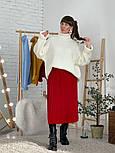 Женский свитер объемной вязки под горло (в расцветках), фото 10