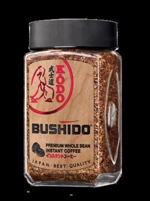 Кофе растворимый с добавлением молотого Бушидо Кодо 100 грамм стекло