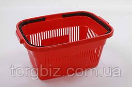Покупательская  корзина для супермаркетов красная