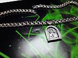 Серебряная цепочка с иконкой Св. Николая, фото 2