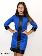 Платье с кожаными вставками 42 44 46, фото 1