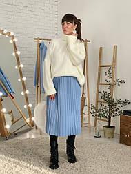 Женская юбка-миди плиссированная (в расцветках)