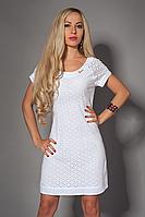 Белое летнее платье прошва, р 42-50