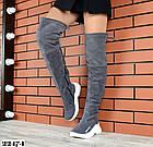 Зимние женские ботфорты серого цвета, натуральная замша 36 37 ПОСЛЕДНИЕ РАЗМЕРЫ, фото 5