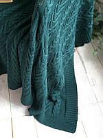 Плед вязаный 130x170 BETIRES BLOOM GREEN (100% хлопок) зеленый