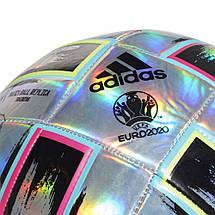 Мяч футбольный Adidas Uniforia Training Ball Euro 2020 №4 FH7353 Серый, фото 2
