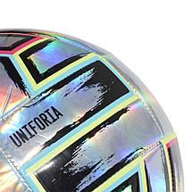 Мяч футбольный Adidas Uniforia Training Ball Euro 2020 №4 FH7353 Серый, фото 3