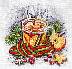 Набор для вышивания нитками Зимний чай (25 см х 25 см) Абрис Арт AH-047