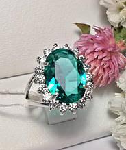 Серебряный перстень с овальным бирюзовым камнем Монако