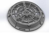 Ливнеприёмник круглый ДКС (В125) с з/у, фото 1