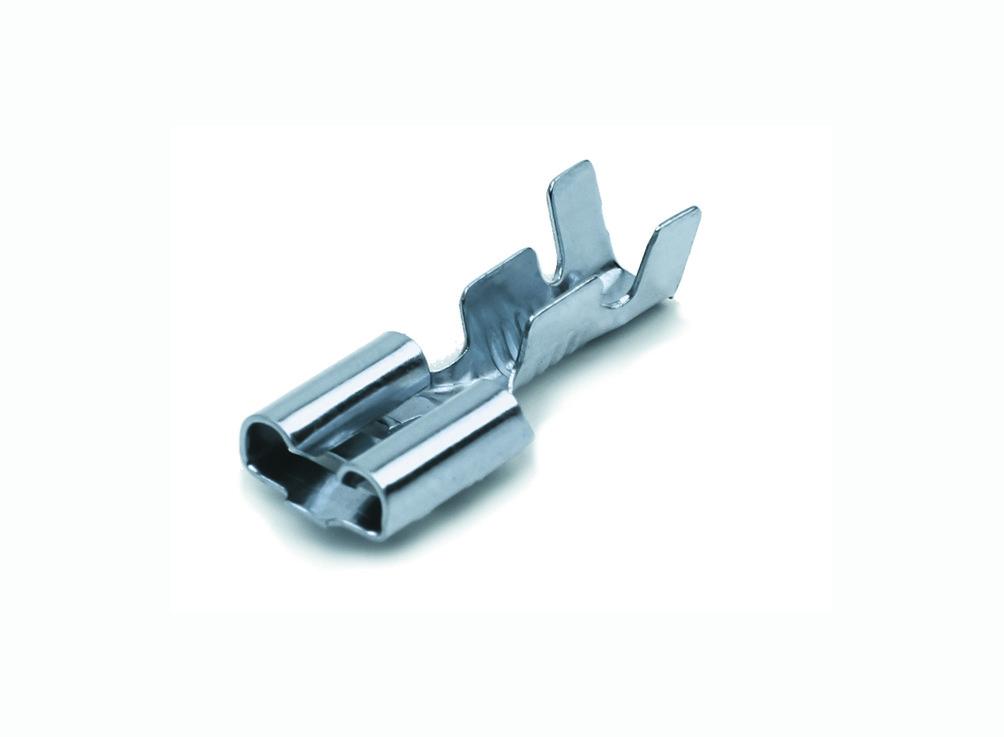 Клема плоский (мама) 6,3 мм (наконечник луженый) (250 шт.) WTE