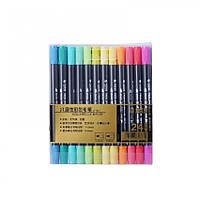 Набор двухсторонних акварельных маркеров STA 24 цвета (B141019)