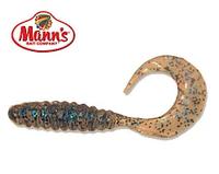 Силиконовая приманка Manns Twister 038 M-038 BFCL прозрачный с синей блесткой 70мм